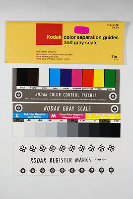 Vintage Kodak Q-13 Color Separation Guides and Gray Scale 7""