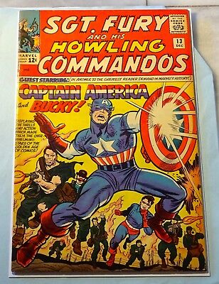 Sgt. Fury And His Howling Commandos #13 CAPTAIN AMERICA HI GRADE VF+ 8.5