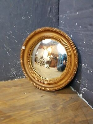 Old Atsonea Gilt Framed Round Convex Glass Wall Mirror To Tidy Up Or Restore