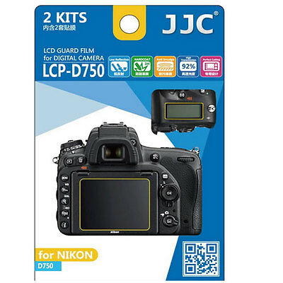 JJC LCP-D850 hard polycarbonate LCD Film Screen Protector For Nikon D850 2 Pack
