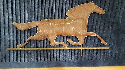 "Antique ""Ethan Allen"" Running Horse Molded Copper Weathervane"