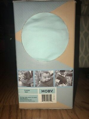 The Original Moby Wrap Cotton Baby Carrier, mint green