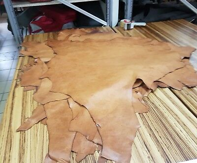 Tan Natural Veg Tan Kangaroo Hide