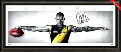 Dustin Martin Signed 2017 Brownlow Wings Official Print Framed 2017 Afl Premiers