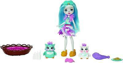 Enchantimals: Sleepover Night Owl Doll Kids Toy With Accessories Colourful  6""
