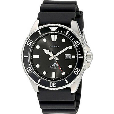 Casio Water Resistant Men's Black Analog Anti Reverse Bezel Diver's Watch