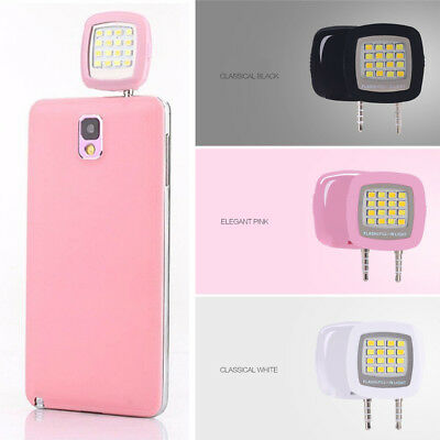 Portable Selfie LED Ring Flash Fill Light Clip Camera For Mobile Phone iPhone