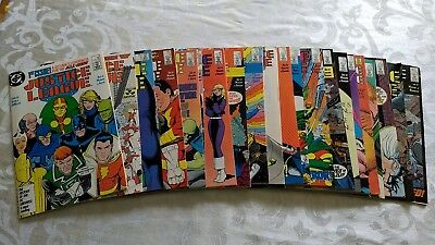 LOT OF 21JUSTICE LEAGUE: ('87): 1, 3-22, Excellent Condition, See photos