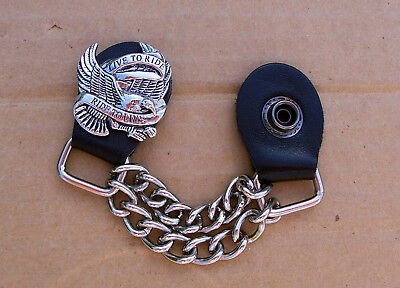 Harley Davidson Live To Ride Snap Chrome Chain Vest Extender Ride To Live Eagle