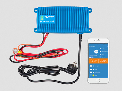 Victron Blue Smart Bluetooth 25 Amp 12V Waterproof IP67 Battery Charger - Marine