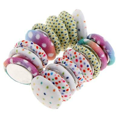 50pcs Fabric Round Memo Magnets Magnetic Whiteboard Map Notice Board Fridge