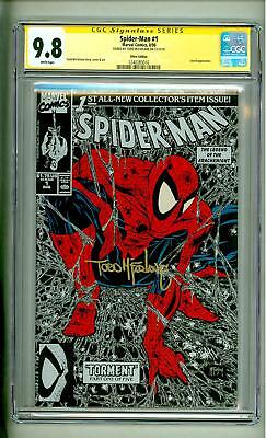 Spider-Man #1 Cgc 9.8 Ss Signed Silver Todd Mcfarlane Signature Series 1990