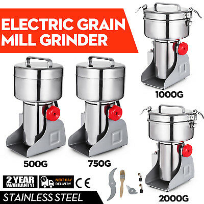 500~2000g Electric Herb Grain Mill Grinder 36000R/MIN stainless steel Coffee