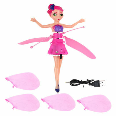 Xmas Gift Infrared Induction Control Flying Fairy Toy Magic Princess Dolls Toy