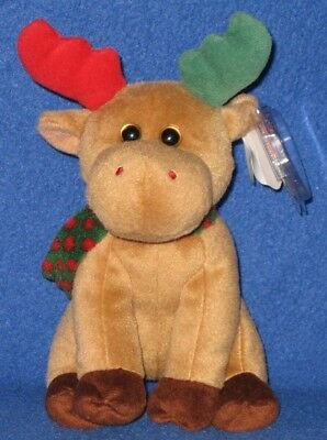 TY HAROLD the MOOSE BEANIE BABY - MINT with MINT TAGS (PRICE STICKER)