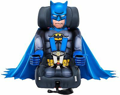 Contoured Kids Toddler Booster Car Seat Batman Deluxe Internal Harness System US