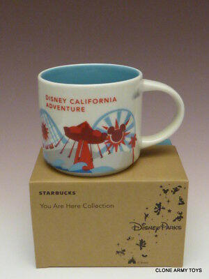 California Adventure Exclusive Paradise Pier Starbucks You Are Here YAH Mug Cup