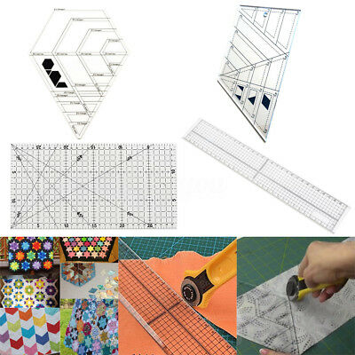 Acrylic DIY Sewing Patchwork Foot Aligned Ruler Quilting Grid Cutting Tailor