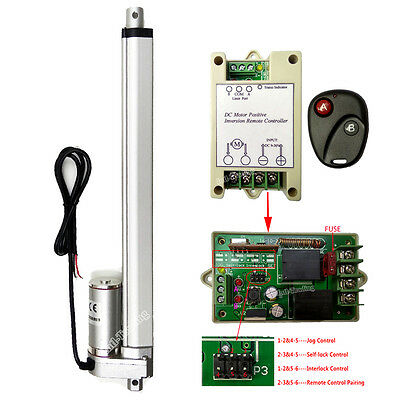 """DC 12V 300mm 12"""" Linear Actuator W/ Remote Motor Controller for Auto Car Lifting"""