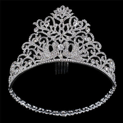 Wedding Bridal Crystal Tiara  Princess Queen Pageant Prom Rhinestone Crown