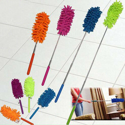 CO_ 1Pc Extendable Telescopic Cleaning Microfibre Feather Duster House Brush Nov