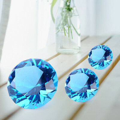 30/40/60mm Crystal Diamond Shape Paperweight Glass Gem Display Ornament Gift