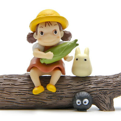 3pcs Studio Ghibli Anime My Neighbor Totoro Mini Figure Figurine Toy Gift New