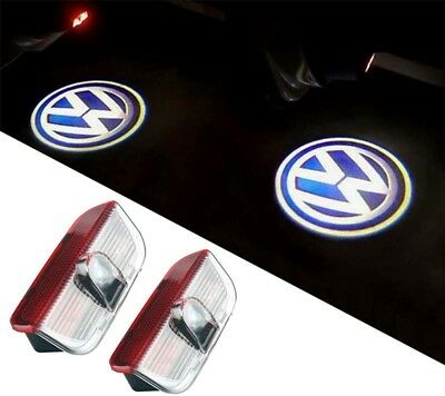 2X LED DOOR COURTESY LASER LOGO GHOST SHADOW LAMP For VW Scirocco EOS New Passat