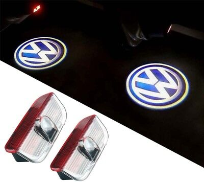 2X LED DOOR COURTESY LASER LOGO GHOST SHADOW LAMP For VW CC Touareg Sharan Golf