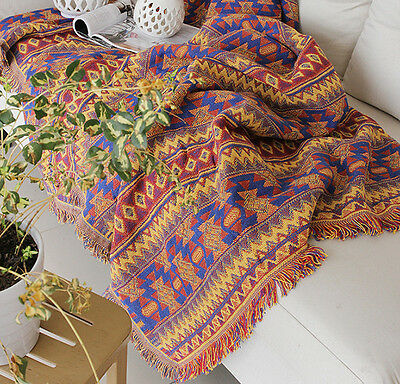 Aztec Pattern Thick Cotton Throw Blanket Bed Cover Picnic Rug 130*180 /180*220cm