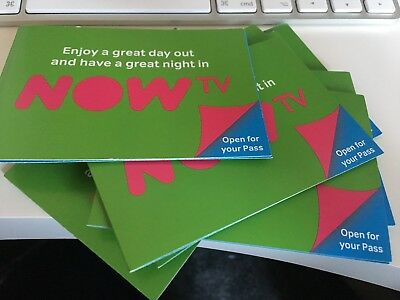 NOW TV PASS CODE - 1 Month of Entertainment/Cinema/Kids OR 1 Day of Sky Sports
