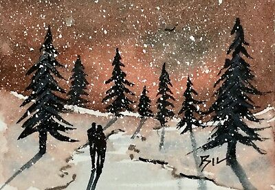 ACEO Original Art Watercolour Painting by Bill Lupton - My Heaven