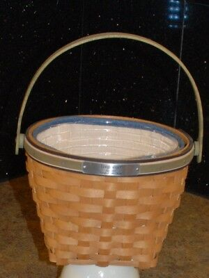 """Longaberger 2005 Bee Basket Combo """"Laugh Learn Grow"""" with Liner & Protector"""