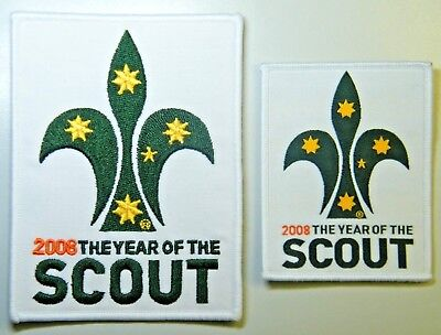 Large & Small 2008 YEAR OF THE SCOUT Badges, Scouts Australia Official Badges