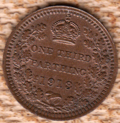 Great Britain 1913 1/3 Farthing *UNC*