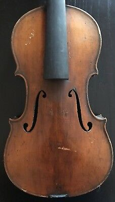 Antique 4/4 Full Size Violin For Restoration