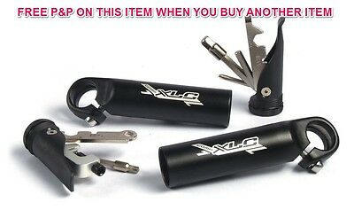 Xlc Comp Alloy Bike Bar Ends With Compact Internal Multi Tool Sets Inside Both
