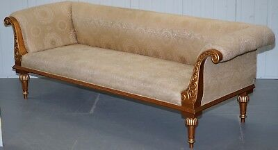 Vintage Gold Leaf Painted Regency French Style Three Sofa Part Of A Large Suite