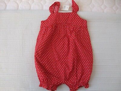 BABY GAP Girls One Piece Adorable Red  and White Polka Dot Outfit Size 3-6 Month