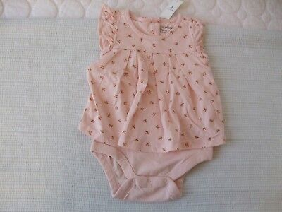 BABY GAP Girls One Piece Adorable Pink Rosebud Outfit Size 12-18 Months