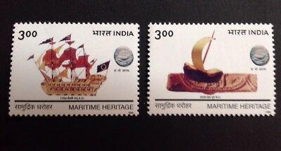 India 1999 Maritime Heritage Set Of 2 Mint Mnh