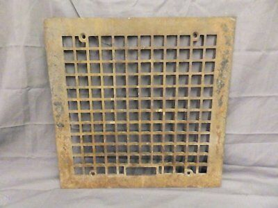 Antique Cast Iron Square Grill Grate Wall Ceiling Old Vintage Vent 16x16 558-17P