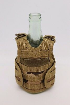 Military Tactical Mini Vest Beer Soda Bottle Coozie Coolie Koozie - Multicam