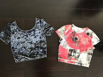 Lot of 2 Abercrombie & Fitch, Forever 21 women crop top cute Holiday XS S