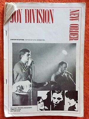 JOY DIVISION A History In Cuttings NEW ORDER 1980s Fanzine Ian Curtis Goth