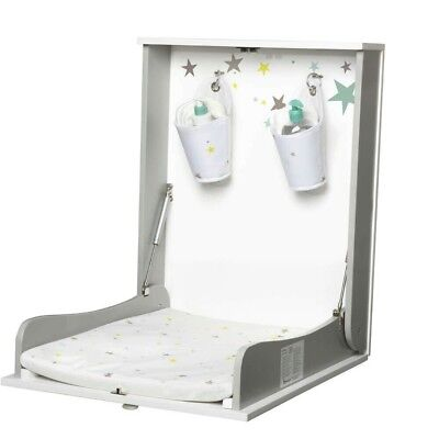 Wall mounted baby changing unit