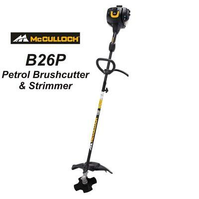 McCulloch B26 PS Petrol Multi-tool Brushcutter / Strimmer / Grass Trimmer B26PS