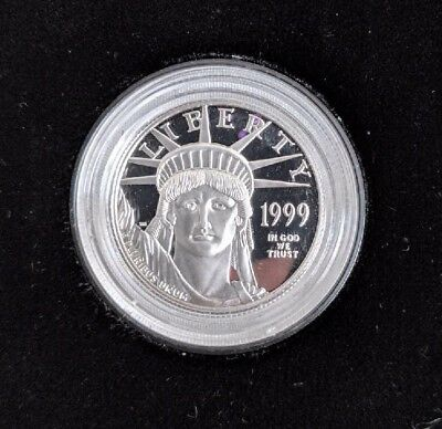 1999-W Platinum American Eagle, Proof, 1/2th oz, $50 Platinum, Box & COA