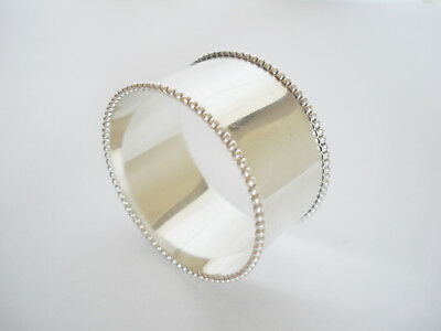 Vintage TOWLE Sterling Silver BEADED NAPKIN RING: No Monogram