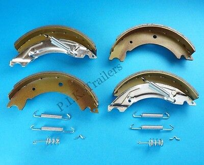 "Axle Set of 203x40mm Trailer Brake Shoes Knott 8"" ECE R90 Approved Indespension"
